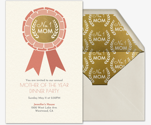 No. 1 Mom Invitation