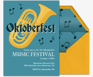 Oktober Music Fest Invitation