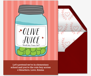 Olive Juice Invitation