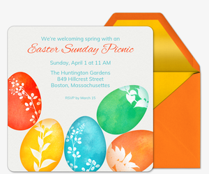 Painted Eggs Invitation