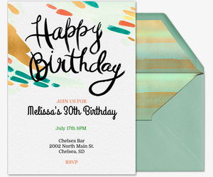 Party Print Invitation