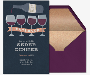 Passover Glasses Invitation