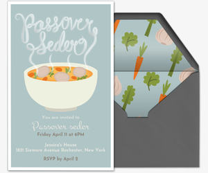 Passover Soup Invitation