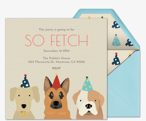 Pet Party Free Online Invitations