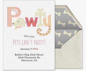 Pet Pawty Invitation