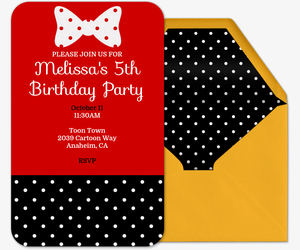 Polka Dot Bows Invitation