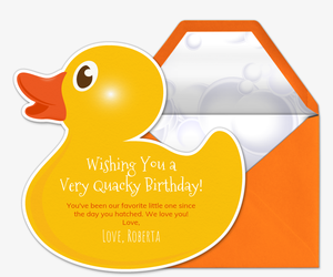 Quacky Birthday Invitation