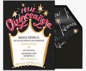 Invitaciones De Quinceanera Gratis