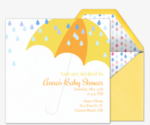 Rain Shower Invitation