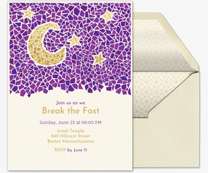 ramadan mosaic invitation