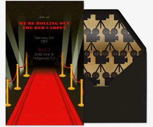 Red Carpet Invitation