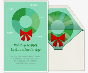 Infographic Wreath Invitation
