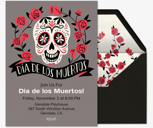 Rose Skull Invitation