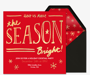 Season Bright Invitation