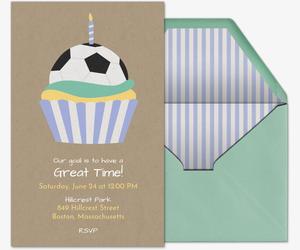 Free Soccer Online Invitations