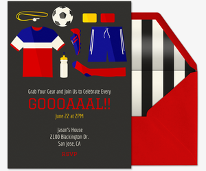 Soccer Essentials Invitation