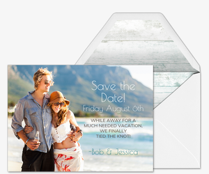 Something Blue Photo Save the Date Card