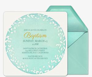 Free Online Religious Communion Baptism Invitations Evite