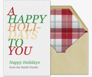 Stacked Holidays Card