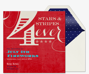 Stars & Stripes Invitation