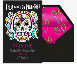Sugar Skulls Invitation