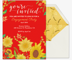 Sunflowers Invite Invitation