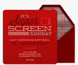 Super Screen Sunday Invitation