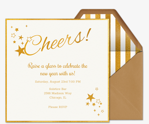 party of the year sweet stars invitation