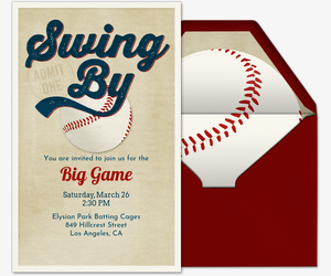 photograph regarding Free Printable Baseball Baby Shower Invitations referred to as Cost-free Baseball Invites - Ticket Strategies Far more - Evite