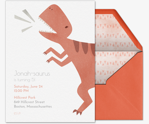 T-Rex Invitation