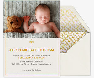 Tear Drop Cross Invitation