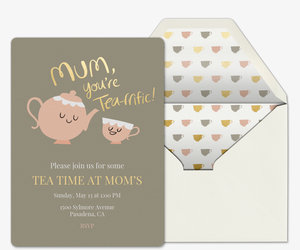 Tea-riffic Mom Invitation