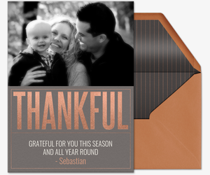 Thankful Photo Invitation