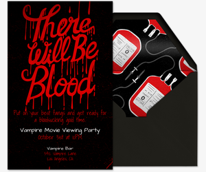 There Will Be Blood Invitation