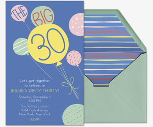 30th Birthday Invitation