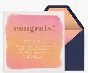 Watercolor Congrats Card