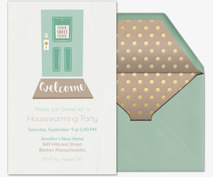 Welcome Door Housewarming Invitation
