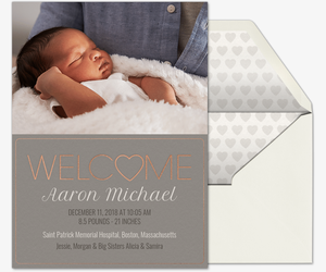 welcome heart invitation