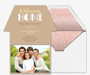 Welcome Home Invitation