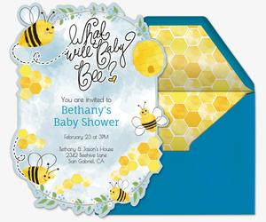 What Will Baby Bee Invitation
