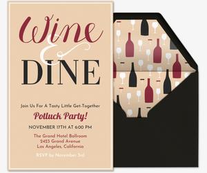 wine and dine invitation