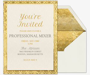 Professional Events Free Online Invitations