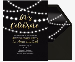 Free Online Wedding Anniversary Invitation W RSVP Tracker