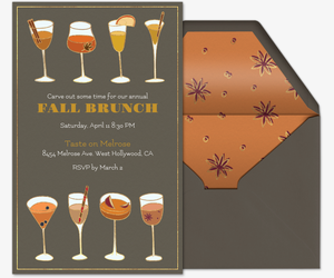 Fall Mimosas Invitation