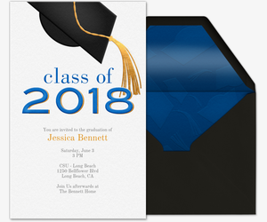 Golden Tassel 2018 Invitation