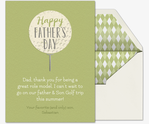 Father's Day Golf Card Invitation