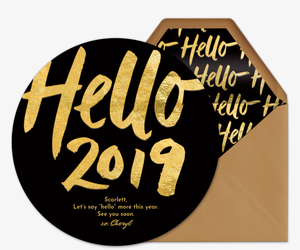 Hello 2019 Invitation