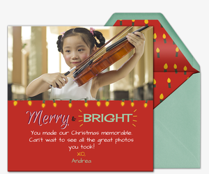 Merry and Bright Lights Invitation