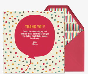 Premium Online Kids Thank You Cards Evite