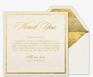 Heart of Gold Thank You Card